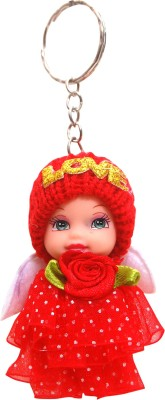 Dealfinity Cute Doll with Polka Dots Dress DKYCN1870 Key Chain(Multicolor)  available at flipkart for Rs.135