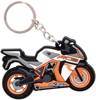 GCT KTM RC8 Logo Orange White Synthetic Rubber Bike Design-A Key Chain(Orange)  available at flipkart for Rs.161