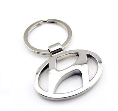 Ezone Full Metal Car Hyundai Key Chain(Silver)