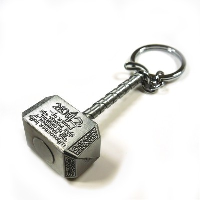 Narmsis Thor hammer Key Chain(Grey)  available at flipkart for Rs.135