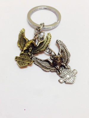 Aura Flying Eagles Key Chain(Gold, Silver)  available at flipkart for Rs.175