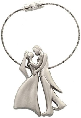 Turban Toys Sweet Romantic Couple Metal Wire Keychain Key Chain(Silver)  available at flipkart for Rs.149