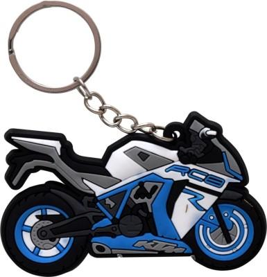 GCT KTM RC8 Logo Sky Blue White Synthetic Rubber Bike Design-A Key Chain(Blue)  available at flipkart for Rs.161