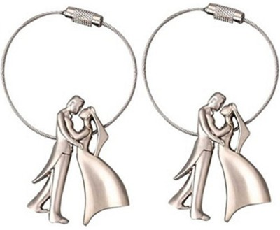 New Pinch Combo Of Romantic Couple Metal Key Chain(Silver)  available at flipkart for Rs.193