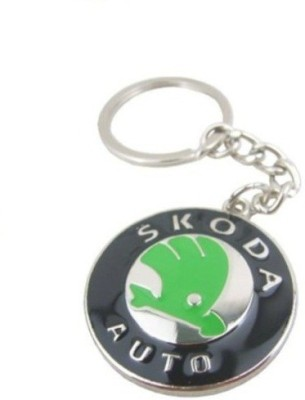 Ezone Skoda Emblem Car Logo Locking Key Chain Key Chain(Multicolor)