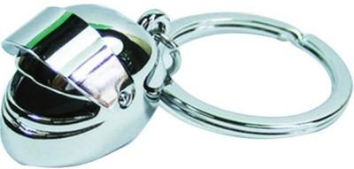 Confident MVP197 Metal HELMET Key Chain(Silver)  available at flipkart for Rs.199