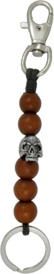 Get Fatang Biker Collection Scary Skull with Hook Locking Carabiner(Brown)