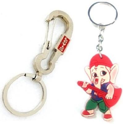 Ezone LEVIS Hook & Rubber Ganesh Key Chain Key Chain