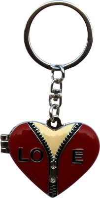 Anishop Valentine Gift Heart Photoframe Key Chain(Red)