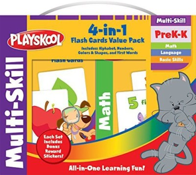 Playskool Flash Cards Value Pack Alphabet First Words Shapes & Colors Numbers(Multicolor)