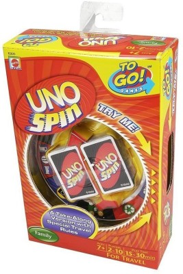 Mattel Uno Spin To Go Card Game(Multicolor)  available at flipkart for Rs.4969