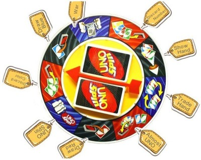 Emob UNO SPIN Wheel Card Family Board Game(Multicolor)  available at flipkart for Rs.549