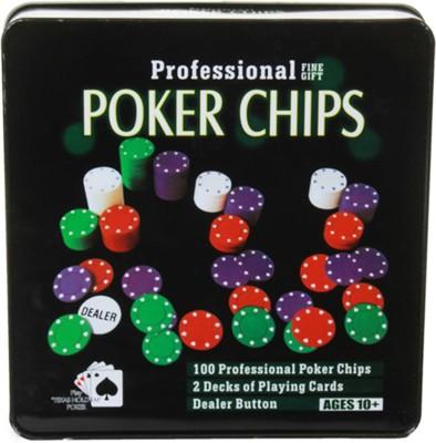 Asquare Mart 100 Chips Professional Poker Set(Red, White, Green, Blue)  available at flipkart for Rs.438