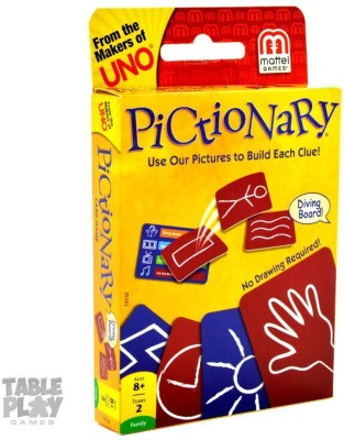 Mattel Pictionary Card Game(Yellow, Blue, Red)
