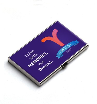 QuoteSutra 10 Card Holder(Set of 1, Blue)