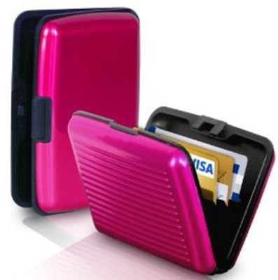 Security 6 Card Holder(Set of 1, Pink)  available at flipkart for Rs.148