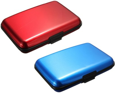 FASTOP Set of 2 FASTOP® ATM Card Business ID Card Holder Credit Card and Debit card Wallet Holder Aluminum Security Wallet RFID Protection 6 Card Holder(Set of 2, Multicolor)  available at flipkart for Rs.199
