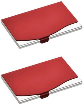 Dizionario 10 Card Holder(Set of 2, Red)  available at flipkart for Rs.194