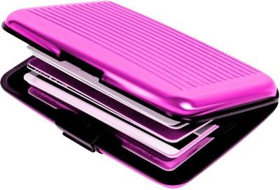 Sphiron 6 Card Holder(Set of 1, Pink)  available at flipkart for Rs.145