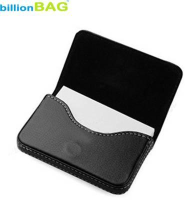 Billionbag Soft Black Leather Waterproof Business Visiting 15 Card Holder
