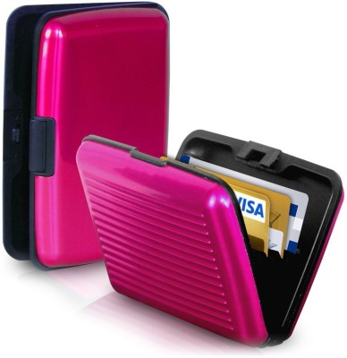 Caryn Use & Fold 10 Card Holder(Set of 1, Pink)  available at flipkart for Rs.145