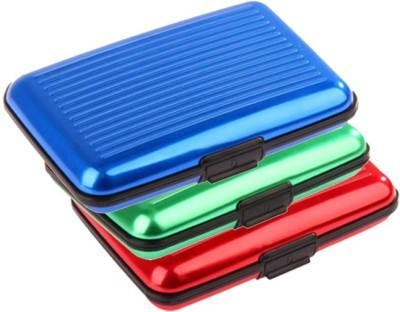 Tady Italio 6 Card Holder(Set of 3, Multicolor)