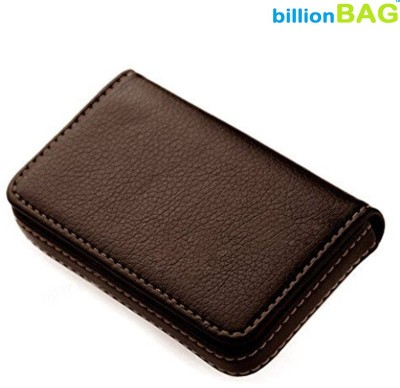 Billionbag Soft Brown Leather Waterproof Business Visiting 15 Card Holder(Set of 1, Brown)