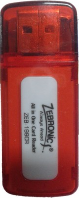 Zebronics ZEB-199 CR Card Reader(Red)  available at flipkart for Rs.184