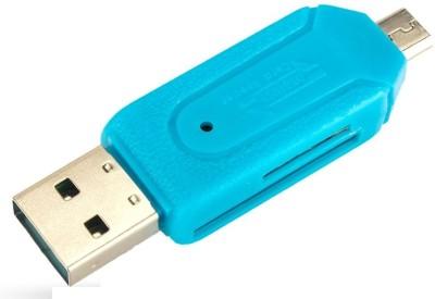 BB4 OTG Micro SD+TF Card Reader(Blue)