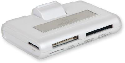 Amkette OTG USB Hub for Smartphones and Tablets Card Reader(White)