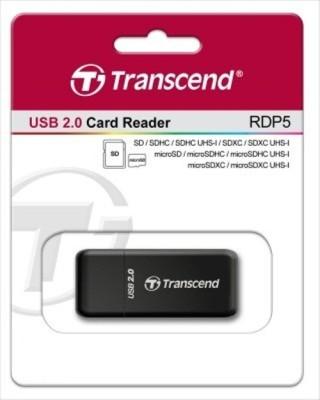 Transcend RDP5 Card Reader(Black)  available at flipkart for Rs.599