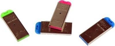 Hiper Song Silver colour Micro SD Card Reader Card Reader Multi Colour