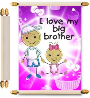 Lolprint Rakhi Gifts Scroll Greeting Card(Multicolor, Pack of 1)