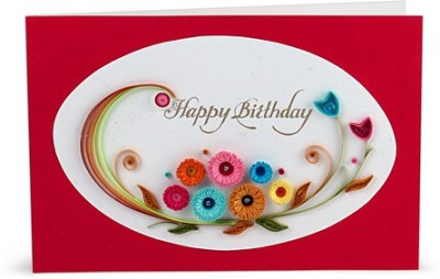 Handcrafted Emotions Handmade Birthday Greeting Card(Multicolor, Pack of 1)  available at flipkart for Rs.199