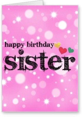51 off on lolprint happy birthday sister greeting cardmulticolor lolprint happy birthday sister greeting cardmulticolor pack of 1 m4hsunfo