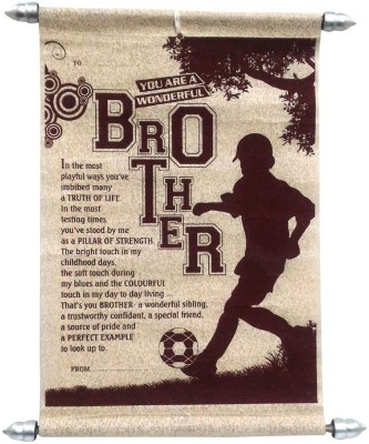 Natali Traders For Brother Greeting Card(Maroon, Pack of 1)