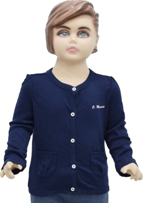 Urban Forest Baby Girls Button Solid Cardigan  available at flipkart for Rs.329