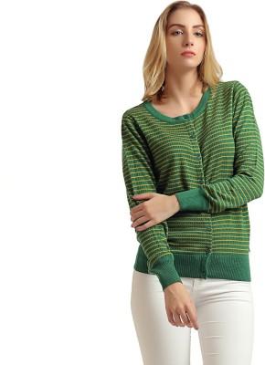 Moda Elementi Women's Button Striped Cardigan