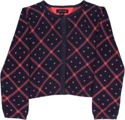 Tommy Hilfiger Baby Girls Button Self Design Cardigan