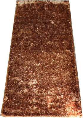 Pasricha Handlooms Brown Polyester Carpet(55 cm X 140 cm)