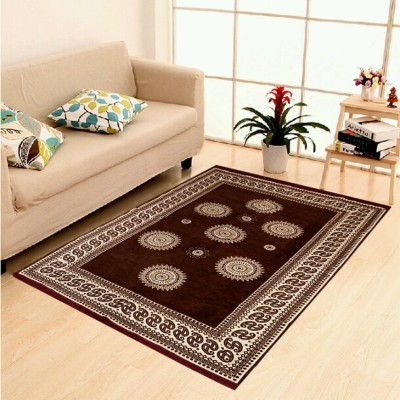 The Real Time Trendz Brown Polypropylene Carpet(150 cm  X 210 cm) at flipkart