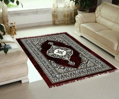 RADHIKA 7 STAR Maroon Velvet Carpet(150 cm  X 210 cm) at flipkart