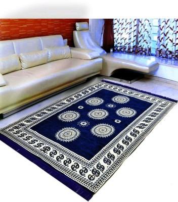 NISHU Blue Cotton Carpet(121 cm  X 183 cm) at flipkart