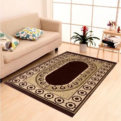 AERONIANS Brown Cotton Carpet(121 cm  X 183 cm) at flipkart