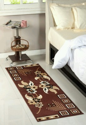 MR MACHROLI Maroon Polypropylene Runner(55 cm  X 175 cm) at flipkart