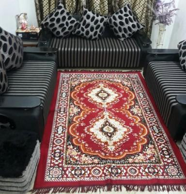 HEENA Multicolor Jute Carpet(154 cm  X 214 cm) at flipkart