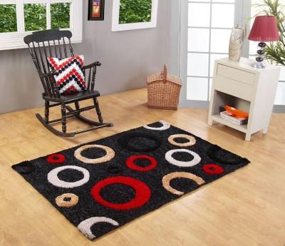 Excel Bazaar Black Polyester Carpet(120 cm  X 180 cm) at flipkart