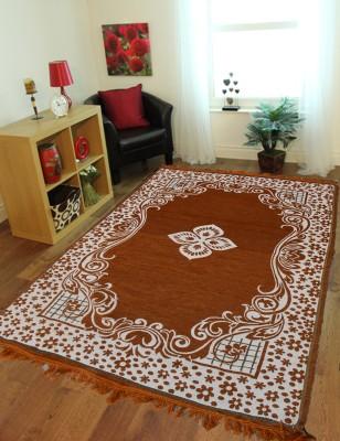 Presto Gold Polyester Carpet(135 cm  X 210 cm) at flipkart