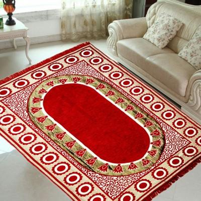 Krishna Creations Red Velvet Carpet(150 cm  X 210 cm) at flipkart