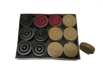 VT Carrom Coins Carrom Pawns(Pack of 24)